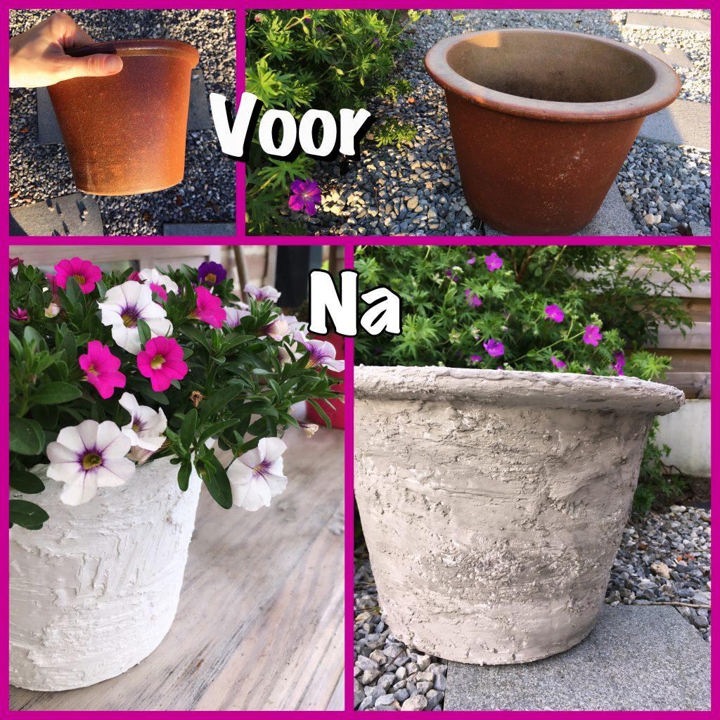 oude bloempot pimpen tot nieuw DIY