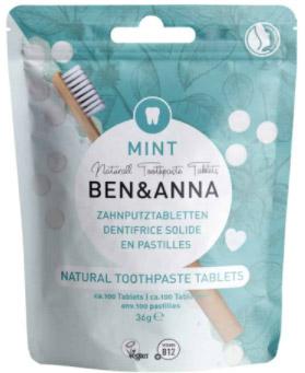 Tandpasta tabletten van Ben&Anna