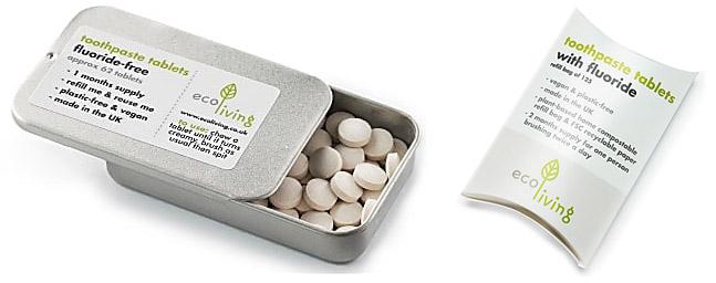 Eco Living tandpasta tabletten.