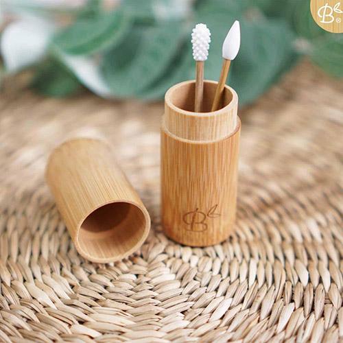 Herbruikbaar wattenstaafje bamboozy in bamboe