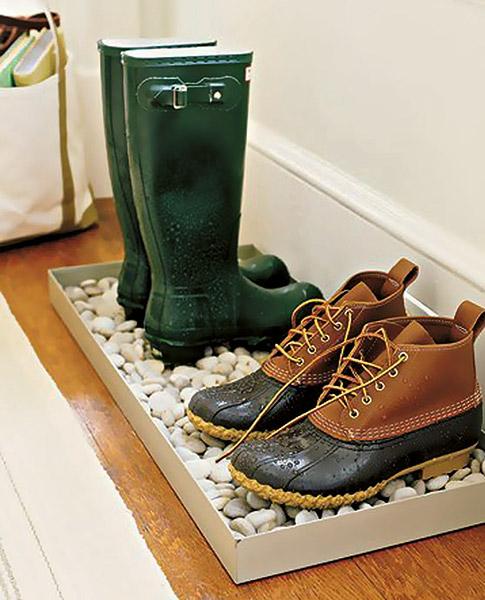 Zelfgemaakte boot tray